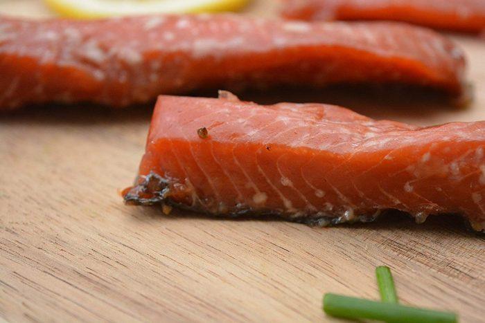 sockeye salmon strips